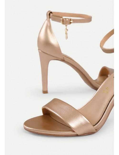 Γυναικείο παπούτσι EXE M47009315546 δέρμα ΡΟΖ ΧΡΥΣΟΣ